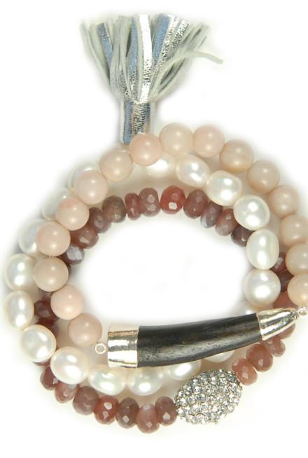 Bracelet_Pearl&ChocMoonstone